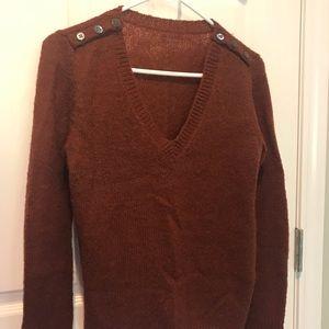 JCrew Mohair Rust Sweater S
